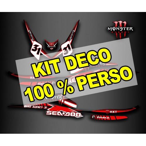 Kit decorazione 100 % personalizzato per Seadoo RXT 260 (S3 scafo) -idgrafix