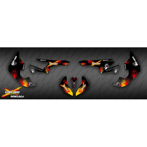 Kit dekor Red Splash Serien - IDgrafix - Can Am Renegade
