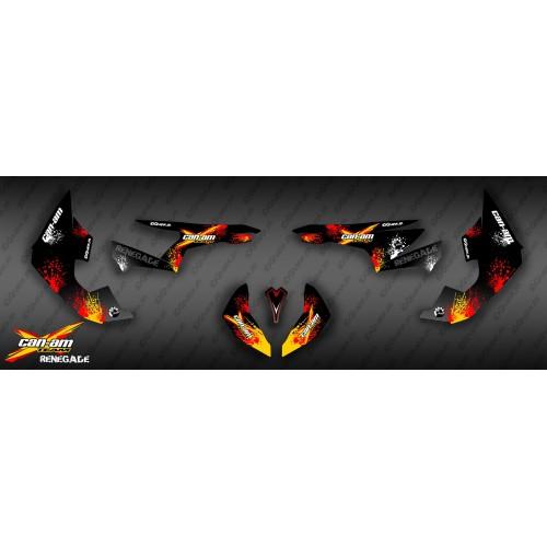 foto del kit, Kit de decoración decoración Roja de la Salpicadura de la Serie - IDgrafix - Can Am Renegade