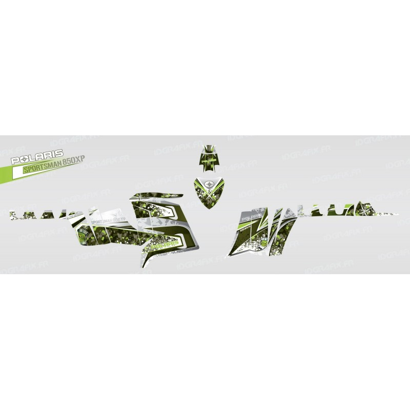 Kit decoració D (Verd) - IDgrafix - Polaris 850 /1000 XPS -idgrafix