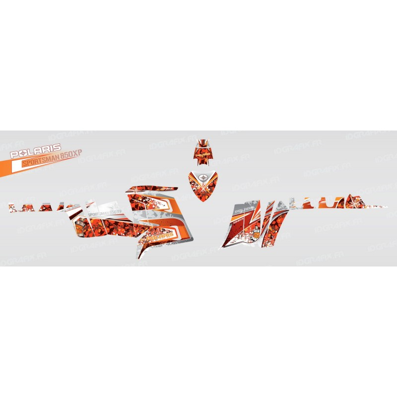Kit décoration Camo (Orange) - IDgrafix - Polaris 850 /1000 XPS-idgrafix