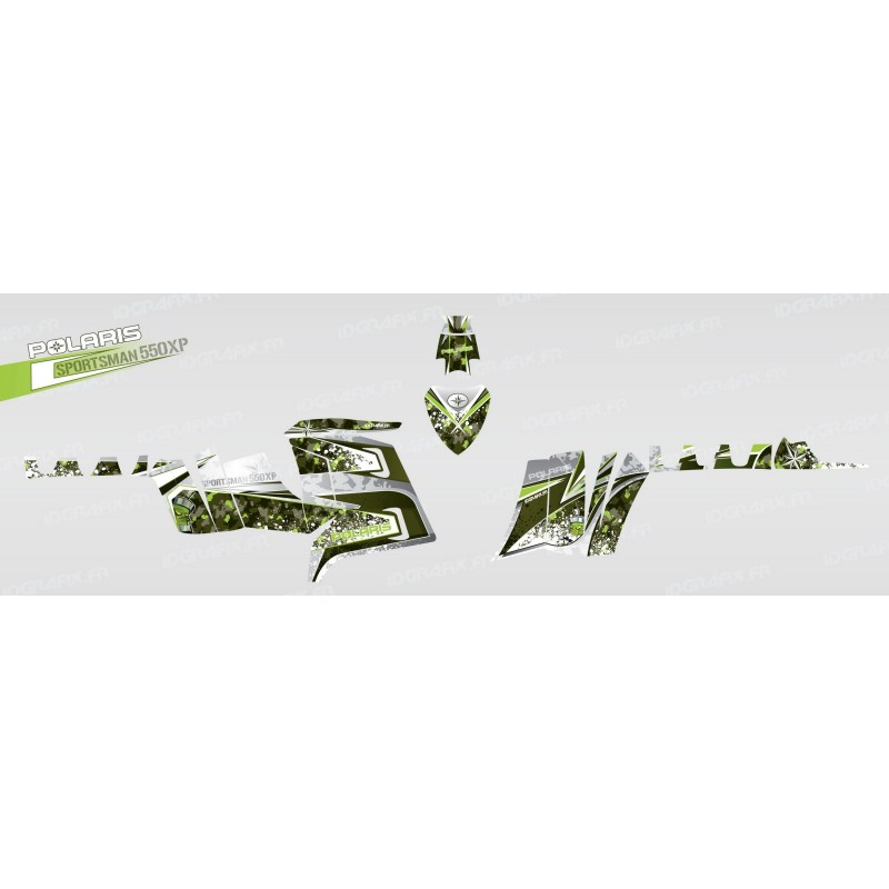 Kit decoration Camo (Green) - IDgrafix - Polaris 550 XPS-idgrafix