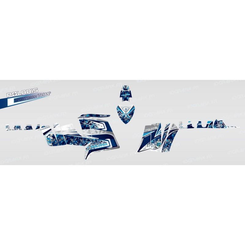 photo du kit décoration - Kit décoration Camo (Bleu) - IDgrafix - Polaris 550 XPS