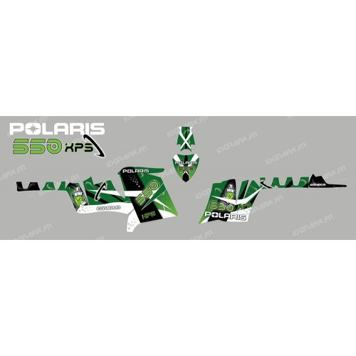 foto del kit, Kit de decoración de la decoración del Espacio (Verde) - IDgrafix - Polaris 550 XPS