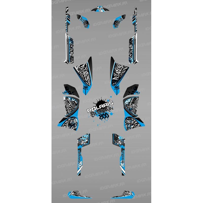 Kit de decoració Blava Tag - IDgrafix - Polaris 800 Esportista -idgrafix