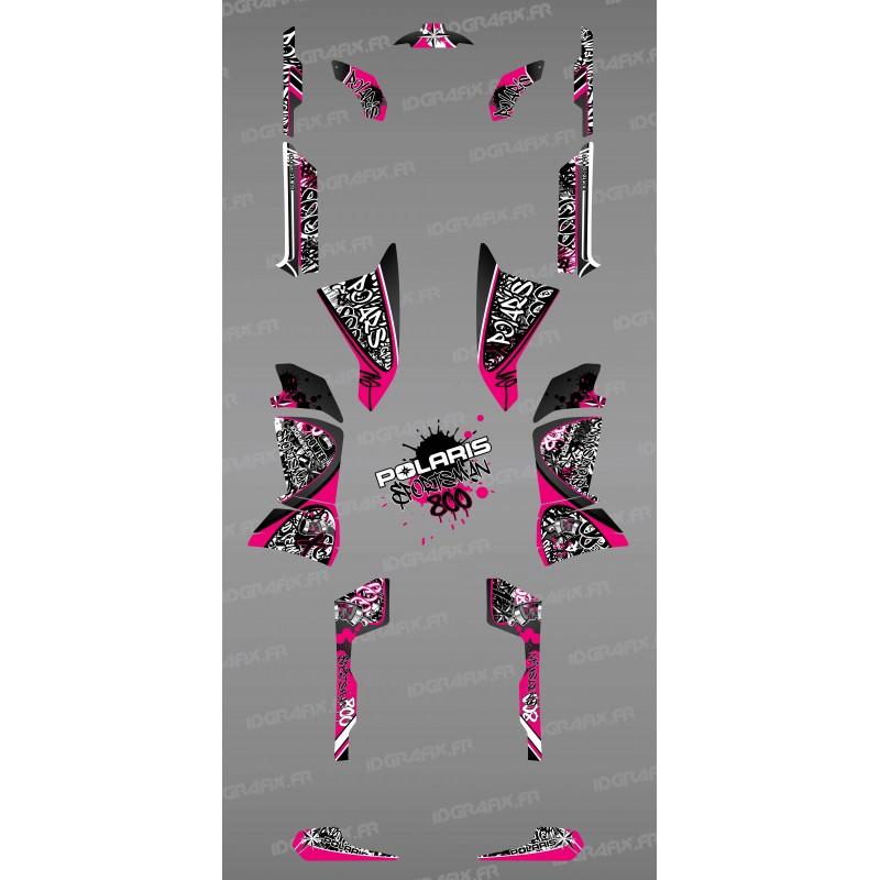 Kit de decoració Rosa Tag - IDgrafix - Polaris 800 Esportista -idgrafix