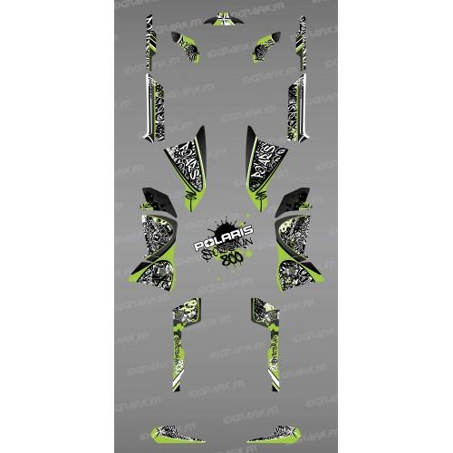Kit de decoración Verde de la Etiqueta - IDgrafix - Polaris 800 Deportista -idgrafix