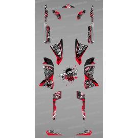 Kit de decoració Vermella Tag - IDgrafix - Polaris 800 Esportista