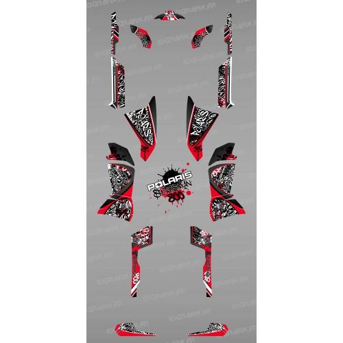 Kit de decoración de Etiqueta Roja - IDgrafix - Polaris 800 Deportista -idgrafix