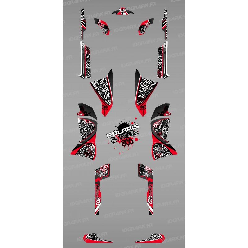 Kit de decoració Vermella Tag - IDgrafix - Polaris 800 Esportista -idgrafix
