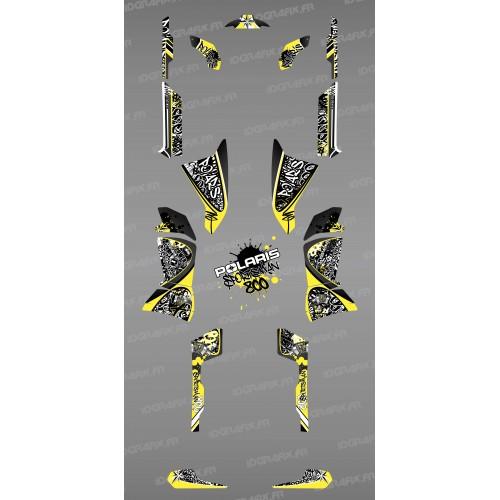 Kit de decoración de la Etiqueta Amarilla - IDgrafix - Polaris 800 Deportista -idgrafix