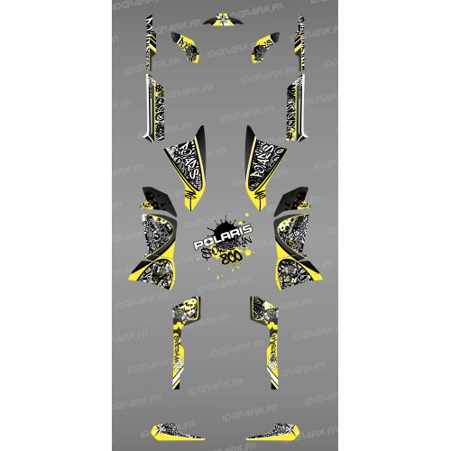 Kit decoration Yellow Tag - IDgrafix - Polaris 800 Sportsman