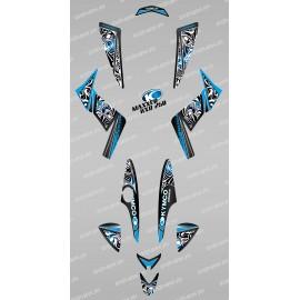 Kit de decoració Tribal Blau - IDgrafix - Kymco 250 KXR/Maxxer