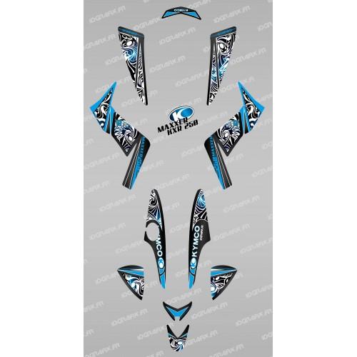 Kit de decoración Tribal Azul - IDgrafix - Kymco KXR 250/Maxxer -idgrafix