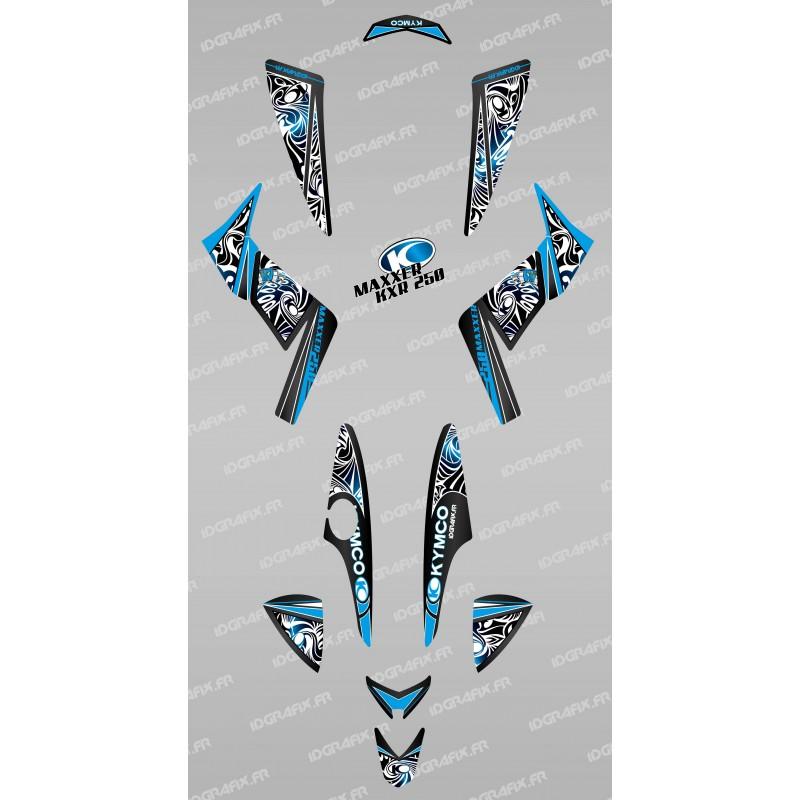 Kit de decoració Tribal Blau - IDgrafix - Kymco 250 KXR/Maxxer -idgrafix