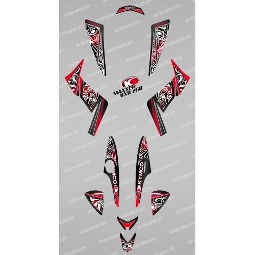 Kit de decoración Tribal Rojo - IDgrafix - Kymco KXR 250/Maxxer -idgrafix