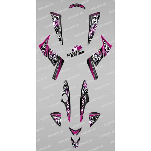 Kit de decoración Tribal de color Rosa - IDgrafix - Kymco KXR 250/Maxxer -idgrafix