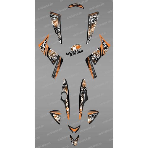 Kit de decoración Tribal Naranja - IDgrafix - Kymco KXR 250/Maxxer -idgrafix