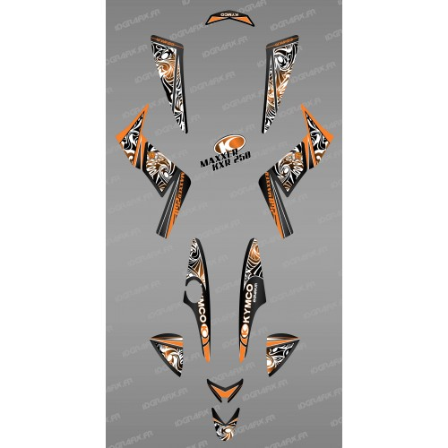 Kit decoration Tribal Orange - IDgrafix - Kymco 250 KXR/Maxxer-idgrafix