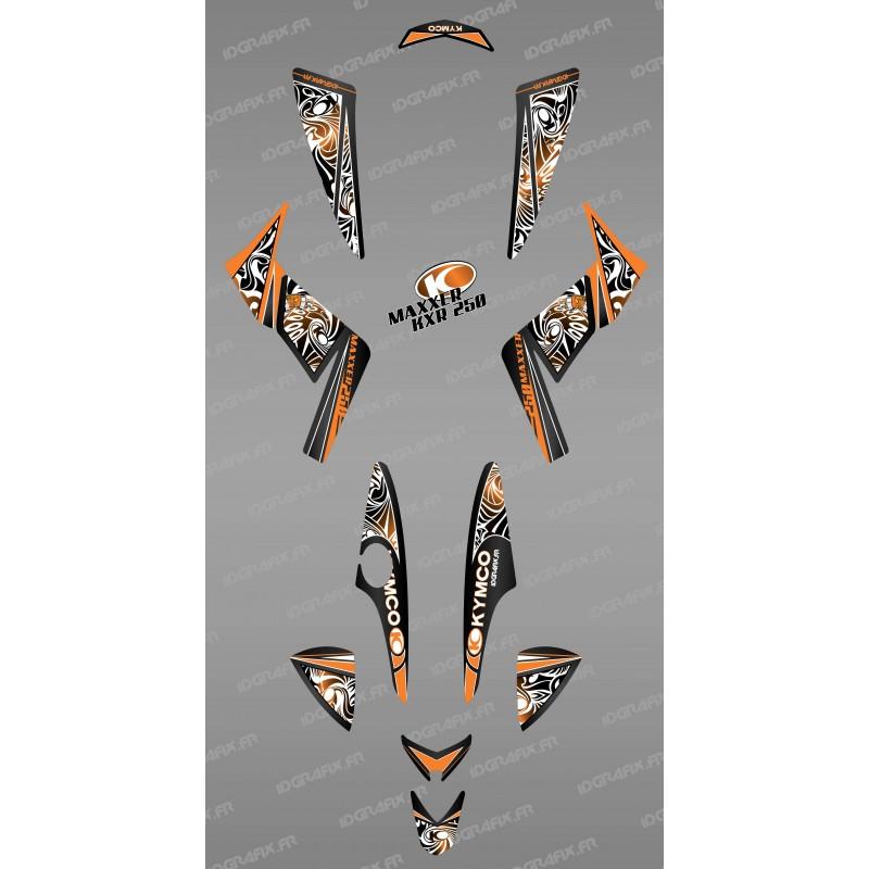 Kit de decoració Tribal Taronja - IDgrafix - Kymco 250 KXR/Maxxer -idgrafix