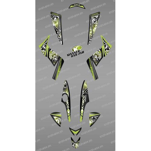 Kit décoration Tribal Vert - IDgrafix - Kymco 250 KXR/Maxxer -idgrafix