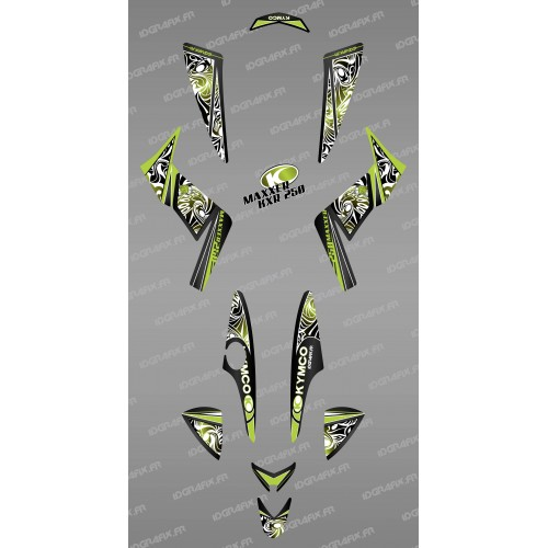 Kit de decoración Tribal Verde - IDgrafix - Kymco KXR 250/Maxxer -idgrafix