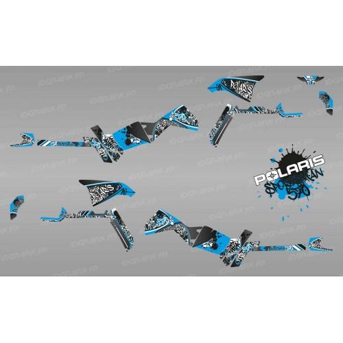 Kit de decoración de la Etiqueta de Serie (Azul) Luz - IDgrafix - Polaris Sportsman 570 -idgrafix