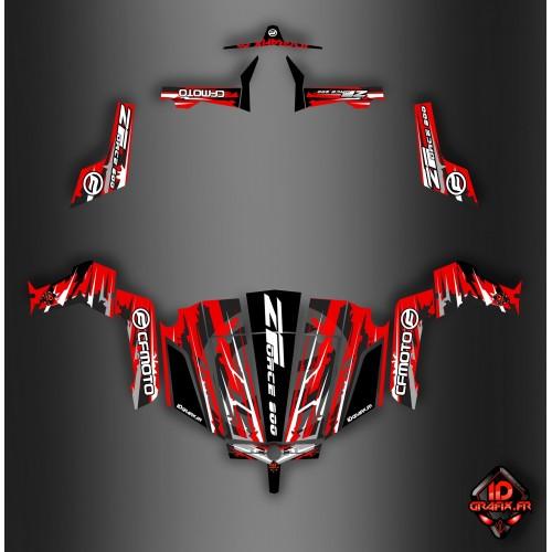 Kit de decoración Roja de la Edición Idgrafix - CF Moto ZForce -idgrafix