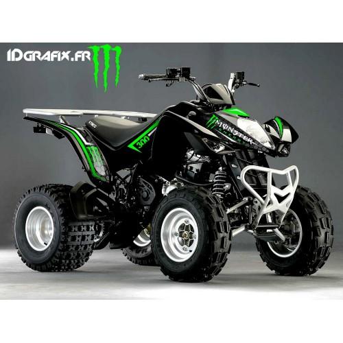 Kit-Deco-Custom Monster Grün - Kymco 300 Maxxer-idgrafix
