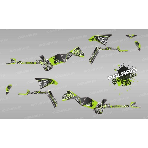 Kit de decoración de la Etiqueta de Serie (Verde) Luz - IDgrafix - Polaris Sportsman 570 -idgrafix