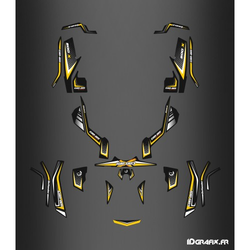 Kit de decoración de X-Limitada Amarillo - IDgrafix - Can Am Outlander (G1) -idgrafix