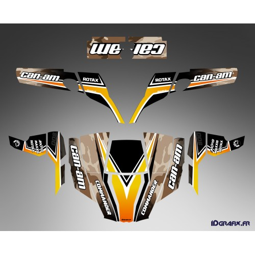 Kit decoration Camo Yellow - IDgrafix - Can Am 1000 Commander-idgrafix