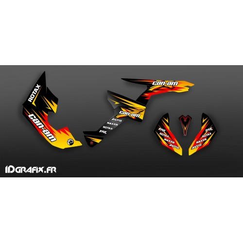 Kit decorazione Gara di Serie Giallo Medio IDgrafix - Can Am Renegade -idgrafix
