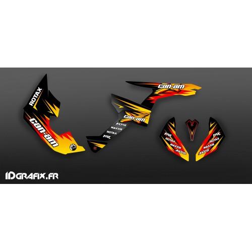 Kit dekor Race Yellow Serie Medium - IDgrafix - Can Am Renegade -idgrafix