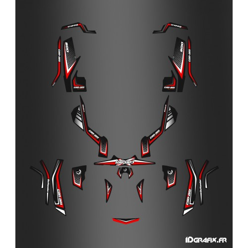 Kit-decoration X-Limited Red - IDgrafix - Can Am Outlander (G1)-idgrafix