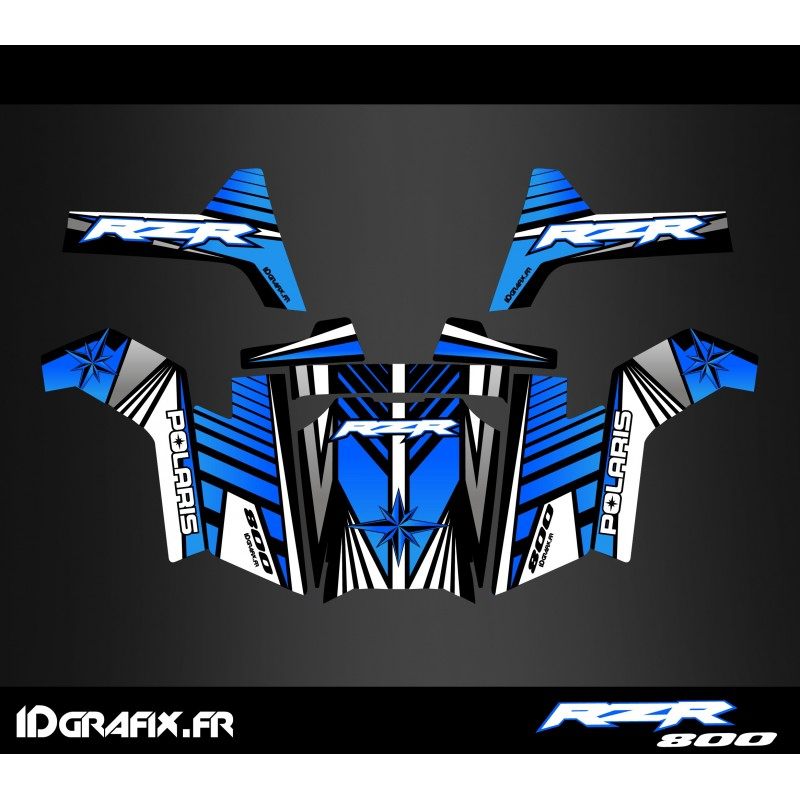 Kit décoration Line Edition (Bleu) - IDgrafix - Polaris RZR 800-idgrafix