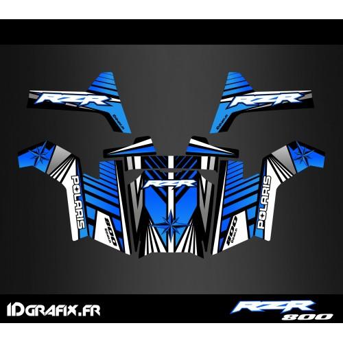 Kit de decoració Línia d'Edició (en Blau) - IDgrafix - Polaris RZR 800S