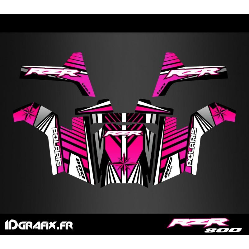 Kit de decoració Línia d'Edició (Rosa) - IDgrafix - Polaris RZR 800S -idgrafix
