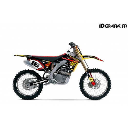 photo du kit décoration - Kit déco Rockstar Makita series pour Suzuki RMZ