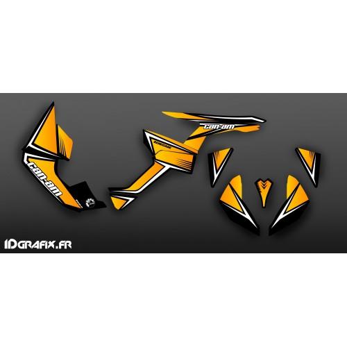 Kit de decoración de color Amarillo/Negro Clásico de la Serie a Medio IDgrafix - Can Am Renegade -idgrafix