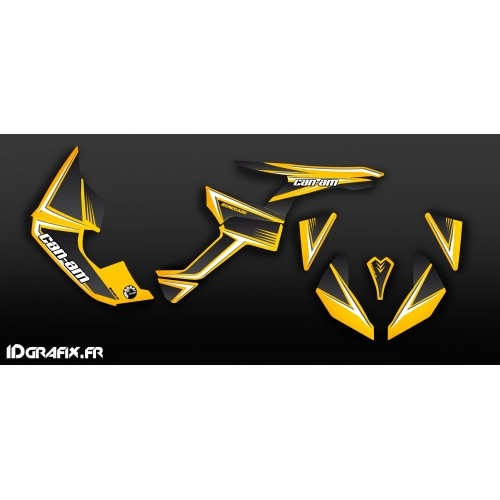 Kit de decoración Amarillo/Gris Clásico de la Serie a Medio IDgrafix - Can Am Renegade -idgrafix