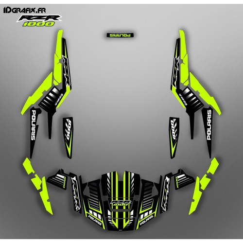 Kit de decoració Velocitat Edició (Limone) - IDgrafix - Polaris RZR 1000 S/XP -idgrafix