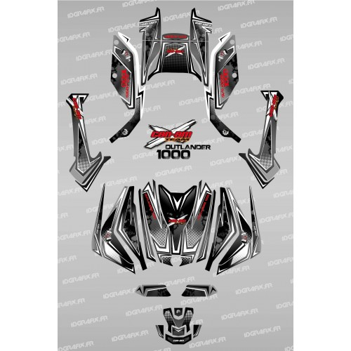 Kit decoration, Full Moon (Black/Red) - IDgrafix - Can Am Outlander G2-idgrafix