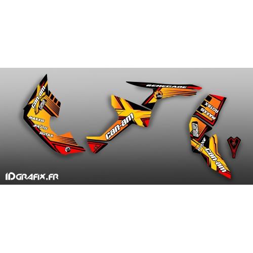Kit de decoración Foro de la Serie Am Amarillo Completo IDgrafix - Can Am Renegade -idgrafix