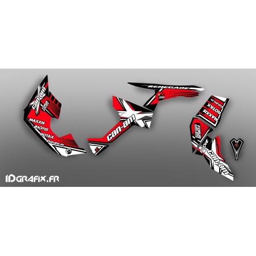 Kit de decoración Foro de la Serie Am Rojo IDgrafix - Can Am Renegade -idgrafix