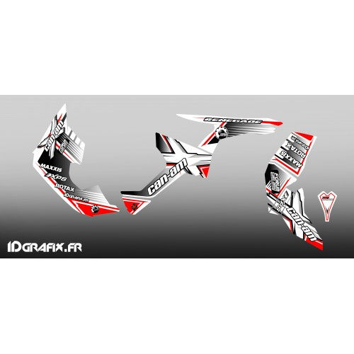 Kit dekor-Forum Can-Am-Serie in Rot/Weiß Full - IDgrafix - Can Am Renegade -idgrafix