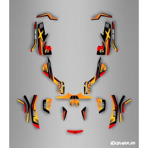 Kit de decoración Foro de la Serie Am Amarillo Completo IDgrafix - Can Am Outlander (G1) -idgrafix