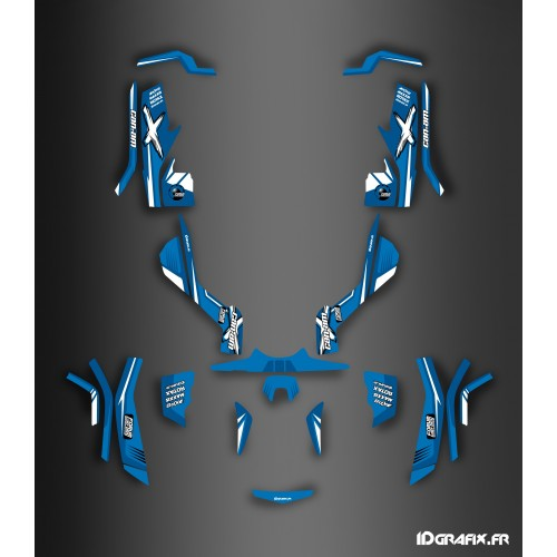 Kit dekor-Forum Can Am Series Blau Full - IDgrafix - Can Am Outlander G1 - () -idgrafix