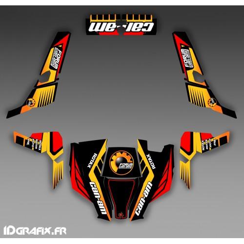 Kit de decoración Foro de la Serie Am Amarillo - IDgrafix - Can Am 1000 Comandante -idgrafix