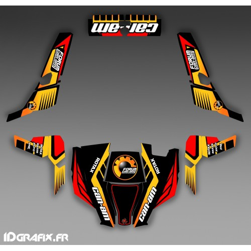 Kit decorazione Forum Can Am Serie Giallo - IDgrafix - Can Am 1000 Comandante -idgrafix